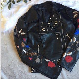 Romeo + Juliet Cropped motorcycle Jacket